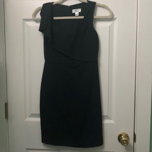Loft little black dress w/ ruffle detail size 00P